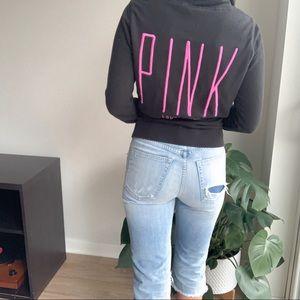 VS PINK Black Zip Up Jacket Size S